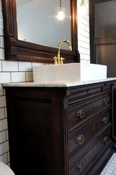 bathroom remodel with antique dresser drawers converted 20263