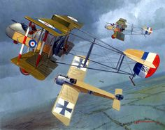 Airco DH 2 24 Sqn. vs Fokker E.III, by Steve Anderson