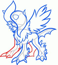 How to Draw Mega Absol, Step by Step, Pokemon Characters, Anime, Draw Japanese Anime, Draw Manga, FREE Online Drawing Tutorial, Added by Dawn, August 18, 2013, 1:41:19 pm