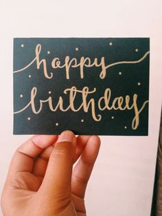 Hand Drawn Black And Gold Polka Dot Happy Birthday Card By CANDY Cards