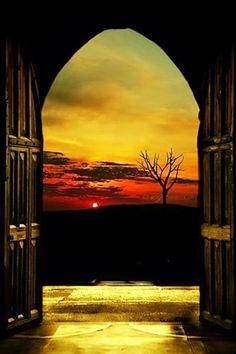 The Sun Setting in Glascow, Scotland