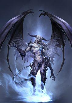 네임드 angel or demon, fantasy art, purgatory в 2019 г. Dark Fantasy Art, Fantasy Kunst, Fantasy Artwork, Dark Art, Demon Artwork, Fantasy Character Design, Character Art, Monster Design, Creature Concept
