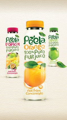 Peela Fruit Juice Packaging by Design Happy UK