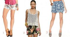 cute printed shorts for summer