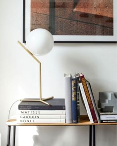 The IC High Table Lamp provides diffused light. Available with an Opal blown glass diffuser and a Brass, Black, or Chrome finish. Contemporary Living Room Furniture, Contemporary Table Lamps, Globe Lamps, Living Room Lighting, Lamp Design, Interior Inspiration, Interior Design, Instagram, Glass Diffuser
