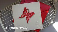 La Coccinella Wedding: Partecipazione Farfalle rosse