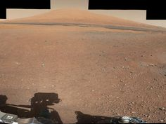 Mount Sharp - One of Curiosity's first telephoto images from Mars.