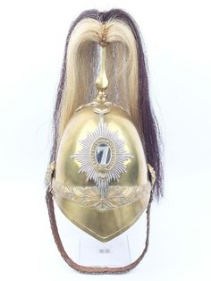 British; 7th (The Princess Royal's) Dragoon Guards, Other Ranks' 1871 model helmet