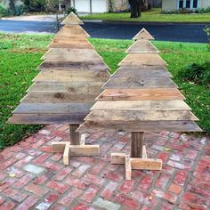 wooden pallet trees
