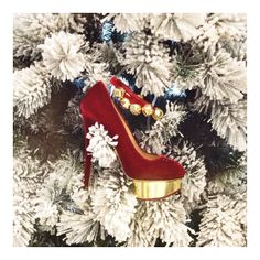 Get in the holiday spirit with these statement red pumps | Charlotte Olympia