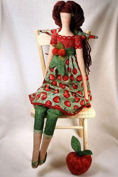 Куклы Тильды ручной работы. Ярмарка Мастеров - ручная работа Тильда Яблочный ангел. Handmade.