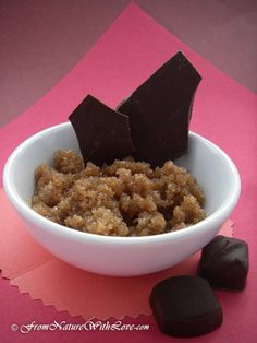 Chocolate truffle sugar scrub by From Nature with Love