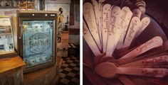 Gold foiled ice-cream fridge branding and wooden spoons for Fanny Chanel ~ Artisan ice cream at Schoon De Companje