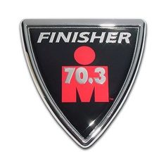 Ironman Triathlon 70.3 3D Reflective Decal Sticker