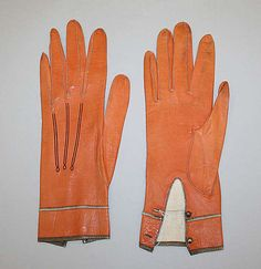 1867 French leather gloves