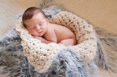 Chunky Cream Newborn Baby Blanket | Beautiful Photo Props