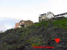 Houses perched on the #cliff in #Ginostra.