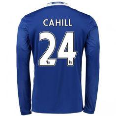 Chelsea 16-17 Gary Cahill 24 Hemmatröja Långärmad  #Fotbollströjor