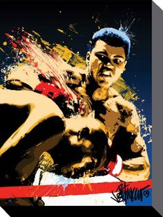 Muhammad Ali - Stung - Official Canvas Print. Official Merchandise. FREE SHIPPING