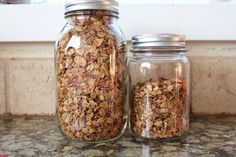 Homemade Granola with coconut oil and honey