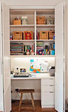 自宅にオシャレな仕事スペース!クローゼット&押し入れ活用術 - Weboo