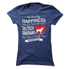 I Love My Deutsch Drahthaar - #birthday gift #wedding gift. THE BEST => https://www.sunfrog.com/Pets/I-Love-My-Deutsch-Drahthaar-Ladies.html?68278