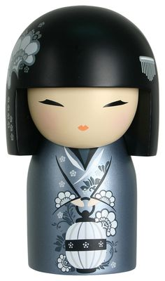 """RP: Kimmidoll: NANA """"Love"""" - My spirit is generous and true. Your big-hearted nature celebrates my spirit. Always generous and steadfast in your affection, may your life be filled with all the love you need. Momiji Doll, Kokeshi Dolls, Asian Doll, Maneki Neko, Japan Design, Wooden Dolls, Japan Art, Art Dolls, Hello Kitty"""