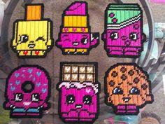 Billedresultat for shopkins perler patterns Pearler Bead Patterns, Perler Patterns, Pearler Beads, Fuse Beads, Plastic Canvas Crafts, Plastic Canvas Patterns, Shopkins Blanket, Iron Beads, Beaded Cross Stitch