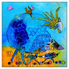 Elke trittel acrylic,collage on board Collages, Red Band, Blue Art, Illustrations, Mixed Media, Art Gallery, Painting, Drawings, Inspiration