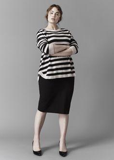 UNIVERSAL STANDARD - Sizes 10-28 - Raquette Stripe Sweater - www.universalstandard.net - Plus Size Inclusive