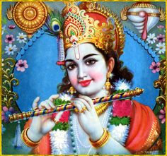 """☀ SHRI KRISHNA ॐ ☀  """"Engagement in Krishna consciousness and application of devotional service unto Krishna make it possible to advance in knowledge and detachment, as well as in self-realization.""""~Srimad Bhagavatam 3.32.23"""