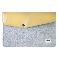 """TECOOL® Felt & Leather Laptop Case Protective Carrying Sleeve Portable Envelope Bag Notebook Skin Cover Pouch with Adaptor Case / Set of 2 for MacBook Air 11"""" (Gray) TECOOL http://www.amazon.com/dp/B00ZTDK9U4/ref=cm_sw_r_pi_dp_PD3Cwb11KZ68Y"""