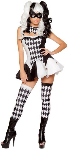 Adult Devious Jester Mardi Gras Costume | Costume Craze