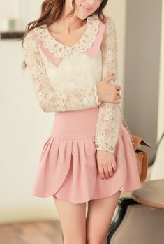 Fanciful Connotation Scalloped Turn Collar Lace Blouse | Sincerely Sweet Boutique