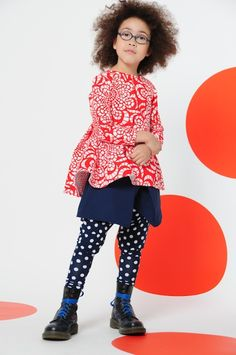 BOdeBO kid fashion WINTER 14/15 top, skirt and dots on pants