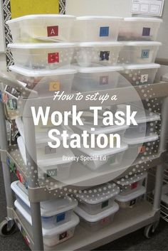 Breezy Special Ed: How to Set Up an Independent Work Box Station. Very practical and useful information if you teach in a special ed or life skills setting. Read more at: www.breezyspecial...
