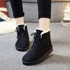 SHARE & Get it FREE   Flock Round Toe Lace-Up Snow BootsFor Fashion Lovers only:80,000+ Items • FREE SHIPPING Join Twinkledeals: Get YOUR $50 NOW!