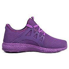 f143235d11fb6 Feetmat Womens Sneakers Ultra Lightweight Breathable Mesh Athletic Walking Running  Shoes Purple 7