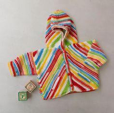 Bias Knit Hooded Jacket