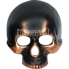 Bronzed Skull Masquerade Mask - FM-79328 by Medieval Collectibles