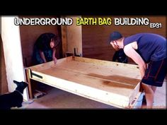Murphy Bed Springs into Action! | Underground Earthbag Building Ep 31 | Weekly Peek - YouTube