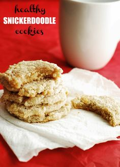Healthy Snickerdoodle Cookies - Low Carb, moist, and delicious little cinnamon cookies perfect as a health conscious dessert.