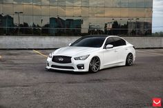 I bring this sedan Infiniti On By Vossen Wheels, in the front and in the rear in Matte Graphite . Infiniti Q50 Red Sport, Infiniti G37, Nissan Infiniti, Maserati Gt, New Luxury Cars, Vossen Wheels, Camaro Car, Girls Driving, Acura Tl