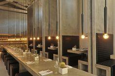 modern restaurant booth design