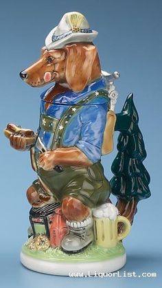 "GERMAN DACHSHUND BEER STEIN - for sale - www.LiquorList.com  ""The Marketplace for Adults with Taste!""  @LiquorListcom  #LiquorList"
