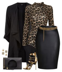 A fashion look from November 2015 featuring tall jackets, pencil skirts and Agent Provocateur. Browse and shop related looks. Classy Outfits, Chic Outfits, Fashion Outfits, Womens Fashion, Look Fashion, Autumn Fashion, Fashion Black, Mode Outfits, Complete Outfits