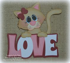 Items similar to Valentines Cat Love Title Premade Scrapbooking Embellishment Paper Piecing Die Cuts Card Scrapbook on Etsy Vintage Scrapbook, Scrapbook Paper, Scrapbook Layouts, Paper Piecing, Foam Crafts, Paper Crafts, Sitting Girl, Die Cut Cards, Scrapbook Embellishments