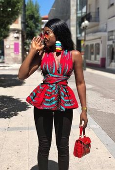 African print tops made to order. Customization is acceptable so contact us now and give us your details. You might not get the same fabric in the picture but the style and quality is this same. Ankara Tops, Ankara Dress Styles, African Print Dresses, African Dress, African Clothes, Latest African Fashion Dresses, African Print Fashion, Africa Fashion, African Print Top