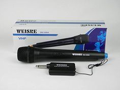 Amazon.com: WEISRE VHF Wireless Microphone System: Musical Instruments