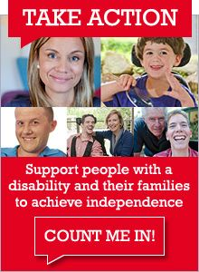 Every Australian Counts is the campaign for the introduction of a National Disability Insurance Scheme. The NDIS will revolutionise the way people with a disability, their families and carers are supported in this country.